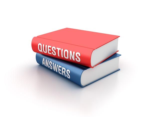 Renderowanie Ilustracji Książek Z Pytaniami I Odpowiedziami Premium Zdjęcia