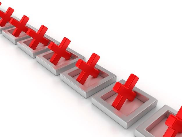 Renderowanie Ilustracji Pól Krzyżowych Premium Zdjęcia