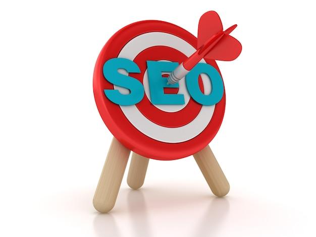 Renderowanie Ilustracji Słowa Docelowego I Seo Premium Zdjęcia