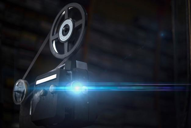 Rocznik projektor na rolce Premium Zdjęcia