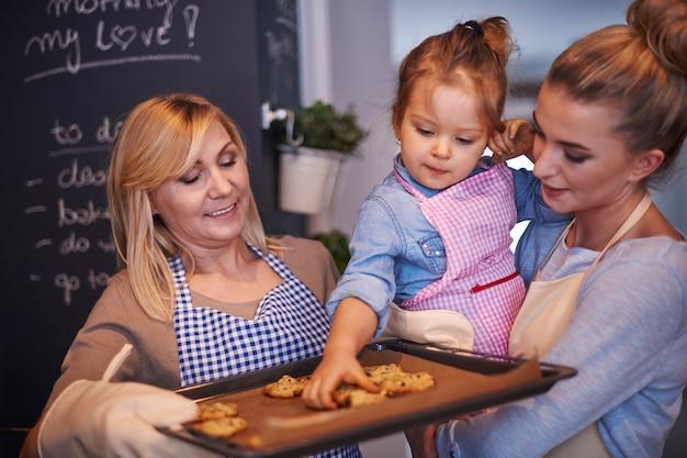 Rodzina Do Pieczenia Ciasteczek Darmowe Zdjęcia