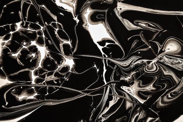 Rozlana Czarno-biała Farba Premium Zdjęcia