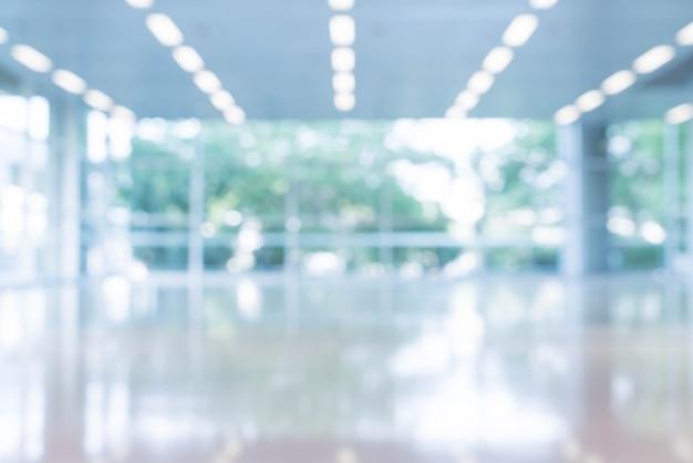 Rozmyte Tło Abstrakcyjna Wnętrza Widoku Patrząc W Kierunku Pustego Holu Pakietu Office I Drzwi Wejściowych I Szklanej ściany Kurtyny Z Ramki Darmowe Zdjęcia