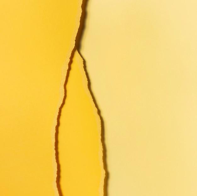 Różne Odcienie Podartego żółtego Papieru Widok Z Góry Darmowe Zdjęcia