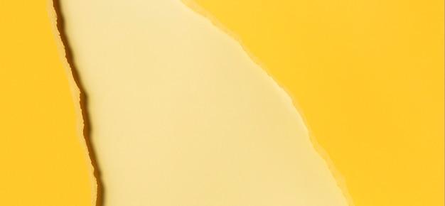 Różne Odcienie żółtej Przestrzeni Kopii Papieru Premium Zdjęcia