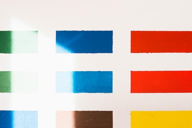 Różne próbki kolorów na białym tle Darmowe Zdjęcia