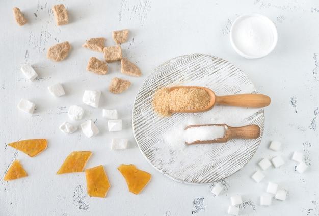 Różne Rodzaje Cukru Premium Zdjęcia