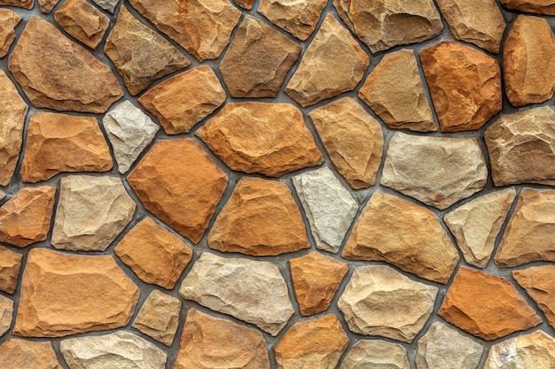 Różne Rozmiary Kamieni Piaskowych. Tle Kamiennego Muru Premium Zdjęcia