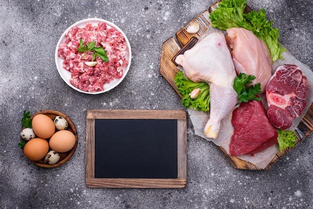 Różne Surowe Mięso, źródła Białka Zwierzęcego Premium Zdjęcia