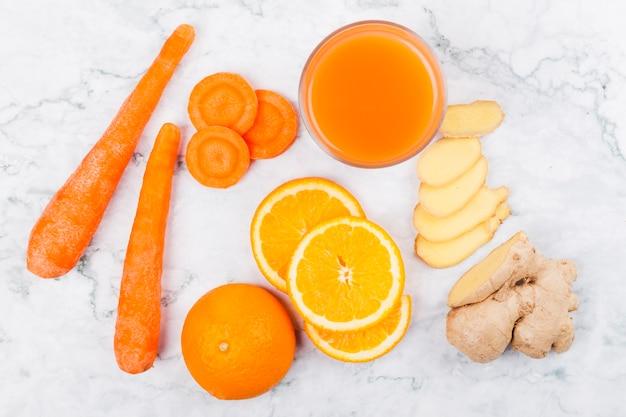 Różne warzywa i owoce na sok Darmowe Zdjęcia