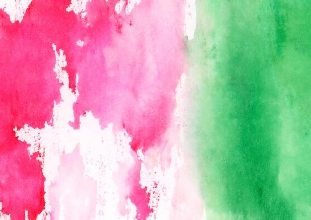 Różowa I Zielona Akwarela Tekstura Darmowe Zdjęcia