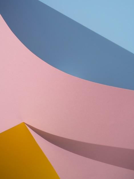 Różowe i niebieskie abstrakcyjne kształty papieru z cieniem Darmowe Zdjęcia