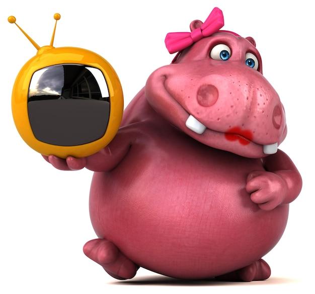 Różowy Hipopotam Premium Zdjęcia