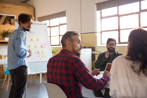 Rozpoczęcie Spotkania Zespołu I Omawianie Pomysłów W Sali Konferencyjnej Darmowe Zdjęcia