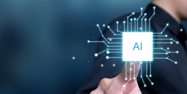 Rozwój Biznesu W Sztucznej Inteligencji Premium Zdjęcia