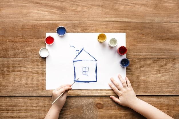 Rysunek domu Premium Zdjęcia
