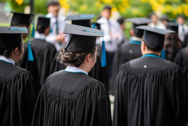 Rząd absolwentów uniwersytetów Premium Zdjęcia