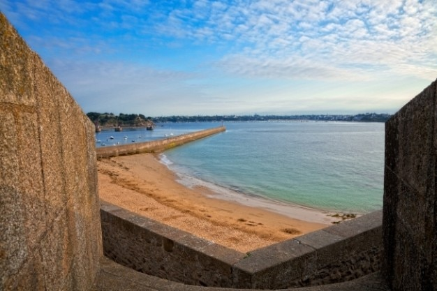 Saint Malo Plaża Dekoracje Hdr Darmowe Zdjęcia