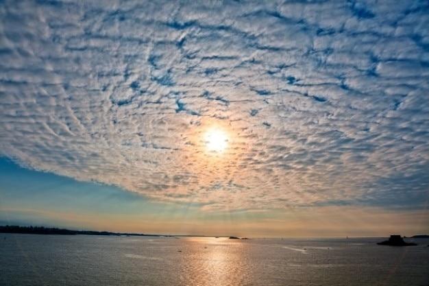 Saint Malo Sunset Krajobraz Hdr Darmowe Zdjęcia