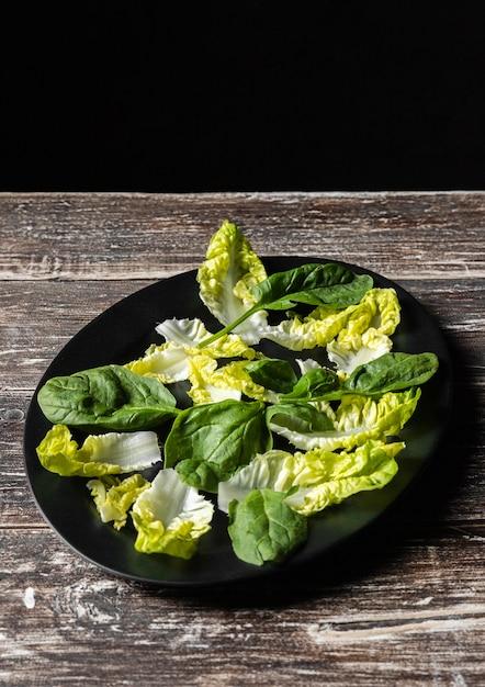 Sałatka Warzywna Z Wysokimi Liśćmi Darmowe Zdjęcia