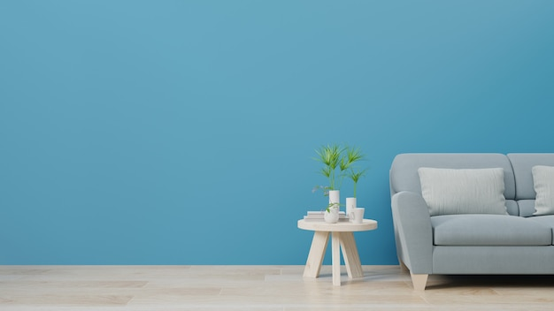 Salon I Luksusowa ściana Wewnętrzna Dla Trendu W Klasycznym Niebieskim Kolorze 2020. Premium Zdjęcia