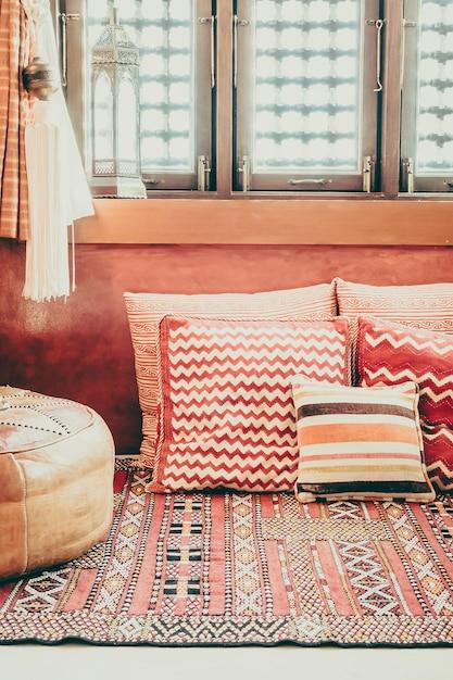Salon Sofa Meble Orientalne Wnętrze Darmowe Zdjęcia