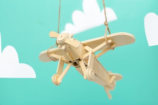 Samolot Zabawka Z Bliska Premium Zdjęcia