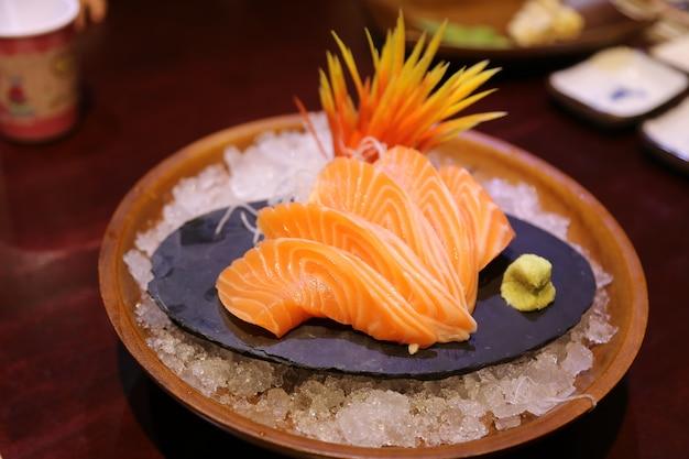 Sashimi Z łososia Premium Zdjęcia