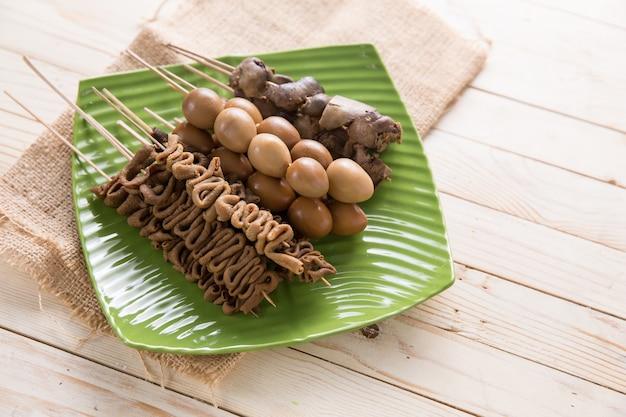 Sate Usus Indonezyjskie Jedzenie Premium Zdjęcia