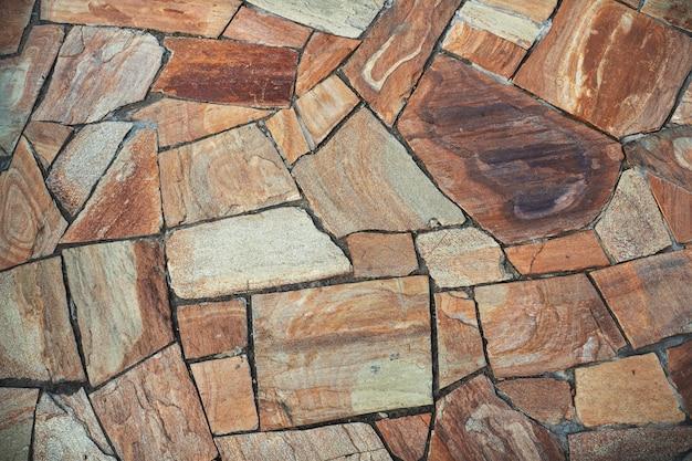 Ściana Wyłożona Kamieniami Premium Zdjęcia