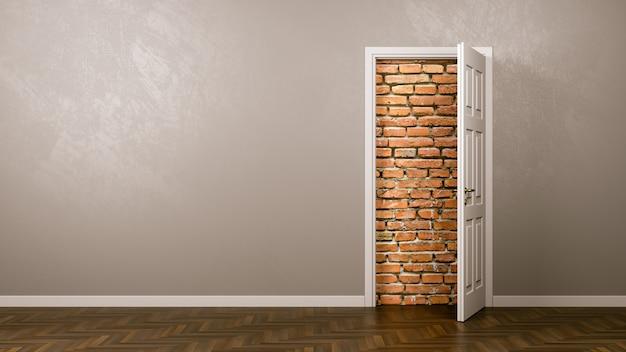 Ściana Za Drzwiami Premium Zdjęcia