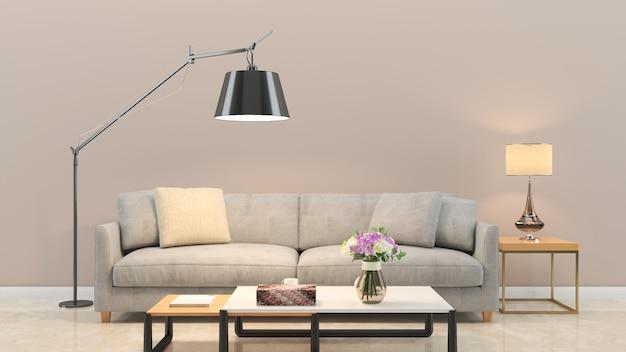 Ścienna tekstura tło drewno marmurowa podłogowa krzesło lampa Premium Zdjęcia