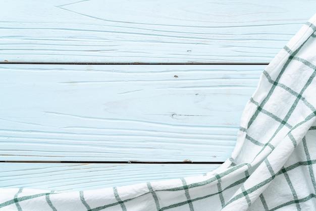 Ściereczki Kuchenne (serwetka) Na Niebieskim Tle Drewnianych Premium Zdjęcia