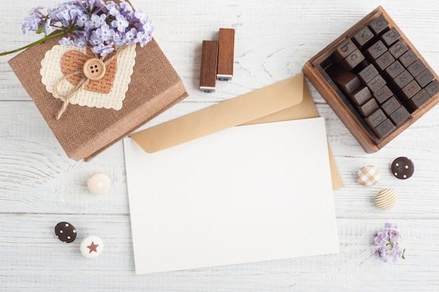 Scrapbooking Diy, Znaczki, Pudełko Premium Zdjęcia