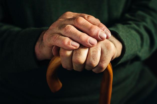 Sękate Artretyczne Palce Starca Premium Zdjęcia