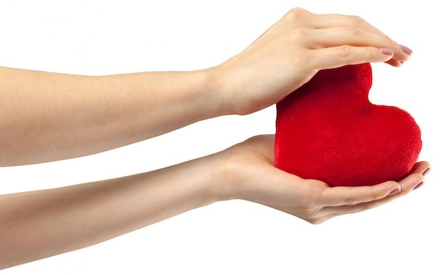 Serce w ręku Premium Zdjęcia