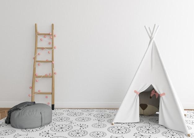 Skandynawski pokój dziecinny z pustą ścianą Premium Zdjęcia