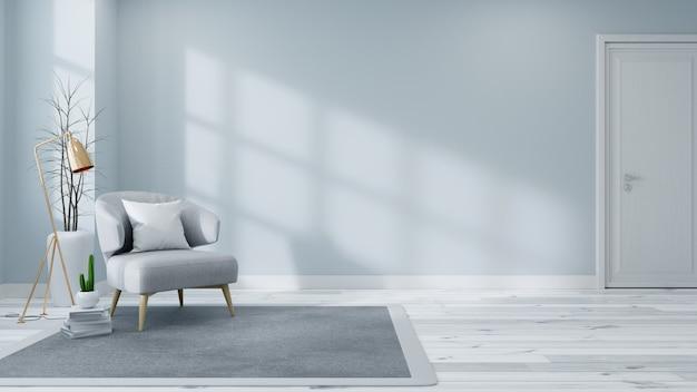 Skandynawskie wnętrze salonu koncepcji Premium Zdjęcia