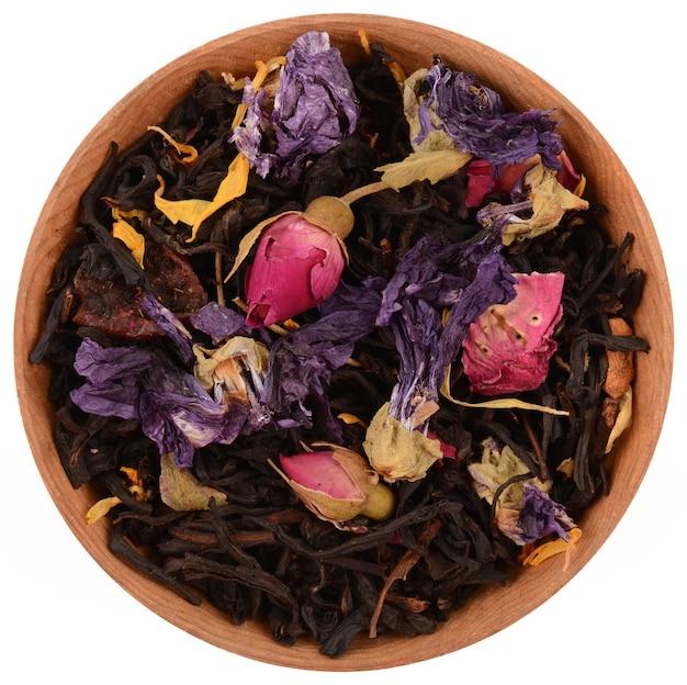 Skład Herbaty Na Białym Tle Premium Zdjęcia