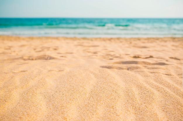 Skład plaży latem na tle Darmowe Zdjęcia