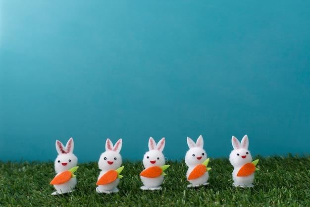 Skład Wielkanoc Z Królików Ozdobnych Darmowe Zdjęcia