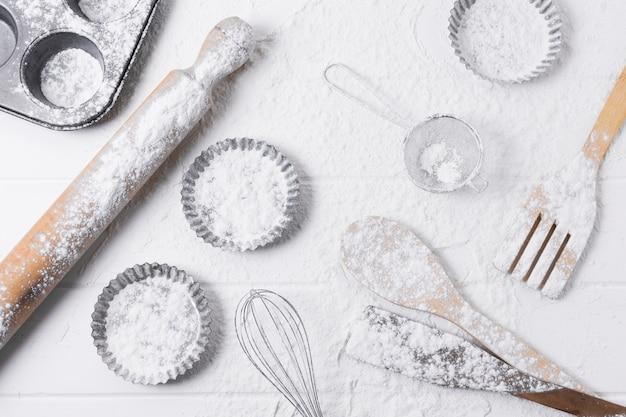 Składniki I Mąka Do Pieczenia Chleba Premium Zdjęcia
