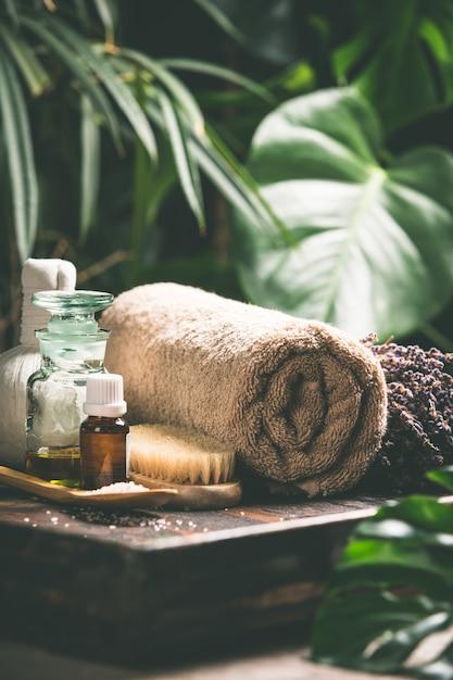 Składu Spa Na Tropikalnej Scenie, Z Bliska Premium Zdjęcia