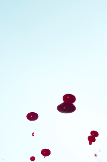 Skopiuj miejsce z abstrakcyjnymi kroplami krwi Darmowe Zdjęcia