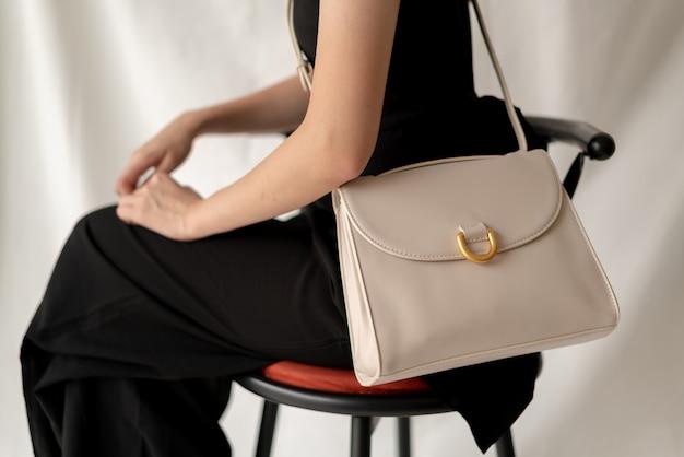 Skórzana Torba Moda Kobieta Premium Zdjęcia