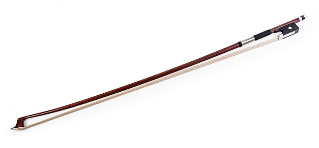 Skrzypcowy łęk Odizolowywający Na Bielu Premium Zdjęcia