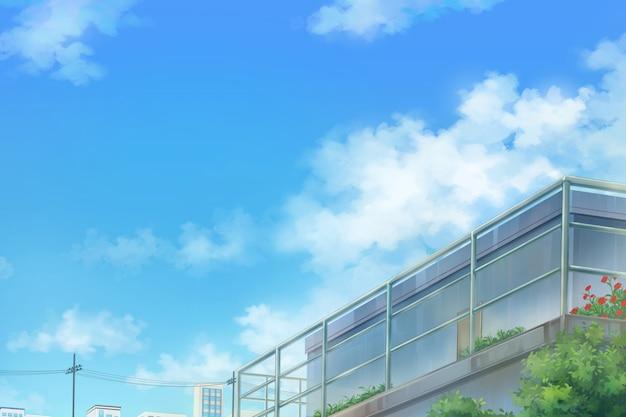 Sky And Deck - Dzień. Premium Zdjęcia