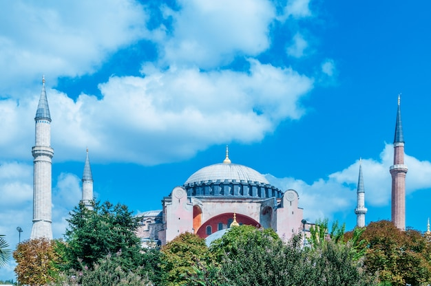 Sławny Meczet W Tureckim Mieście Istanbuł Premium Zdjęcia