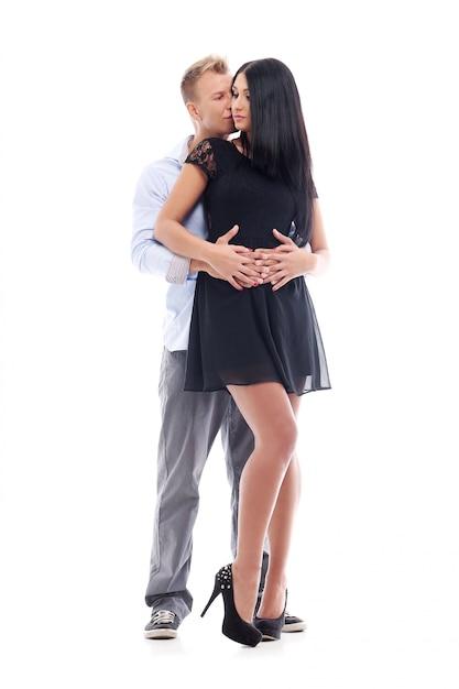 Słodka i seksowna para ma sesję zdjęciową w studiu Darmowe Zdjęcia
