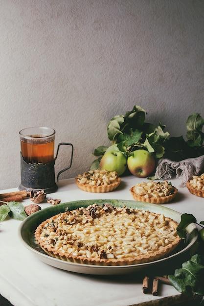 Słodka Tarta Jabłkowa Premium Zdjęcia